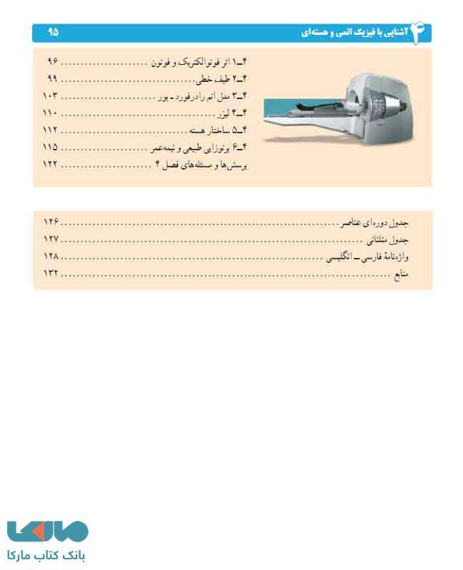 فهرست کتاب درسی فیزیک 3 دوازدهم تجربی