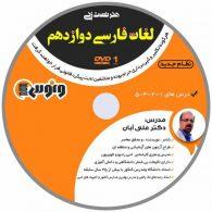 dvd دی وی دی هنر تست زنی لغات فارسی دوازدهم علی آبان ونوس